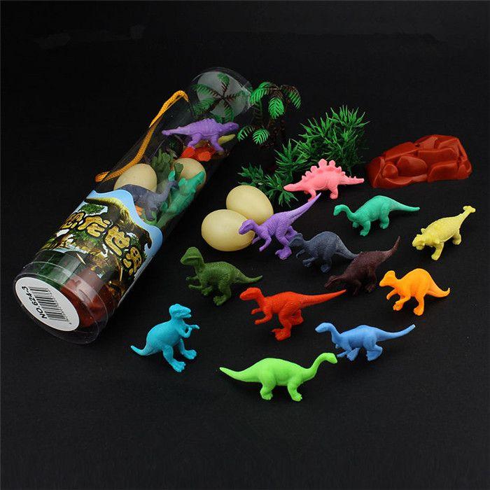12 pz / set Bambini Fantasioso Mini Dinosauro Giocattolo Action Figure in PVC Giocattoli Risorse per l'apprendimento per i bambini Compleanni Regalo di Natale