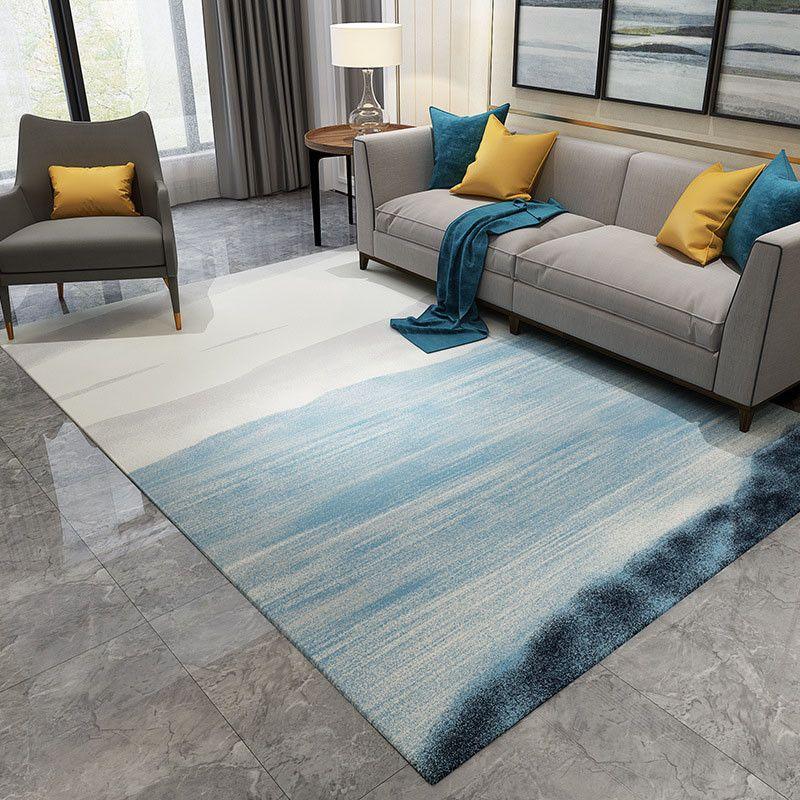 İskandinav soyut mürekkep boyama halı oturma odası yatak odası için kaymaz büyük kilim zemin mat mutfak halılar alan kilim