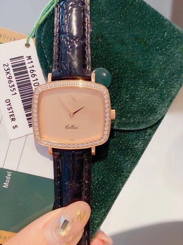 Bayan moda kuvars saatler lüks basit deri kayış bayanlar hediye saatler