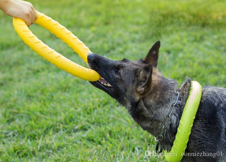 Dog Training EVA Anel + Bola Interactive Toy Ar Livre portáteis Grande Cão que morde Brinquedos Pet Products Ferramenta Movimento