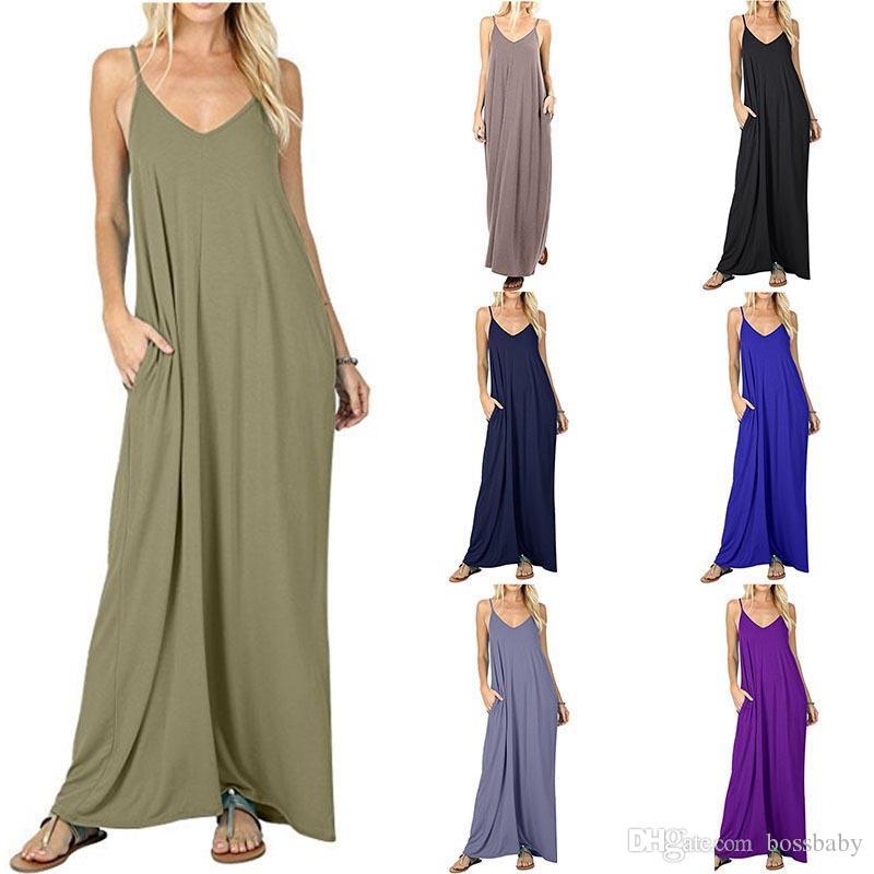 Kaşkorse Elbise Uzun Etek Romper Düz Renk Cep Pileli Etek Orta Bel Sling Düz Cep Yelek 4