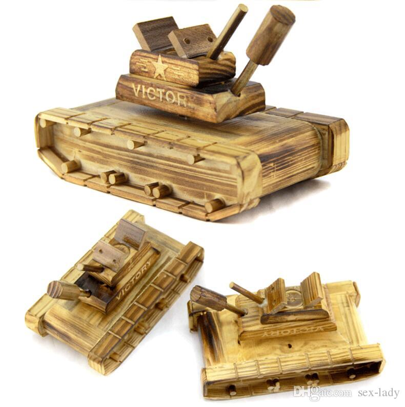 Woodiness Artware Music Box Tank Modelling Restoring Ancient Ways Gift Desktop Drawing Room Furnishing Articles Home Decorati Christmas Gift