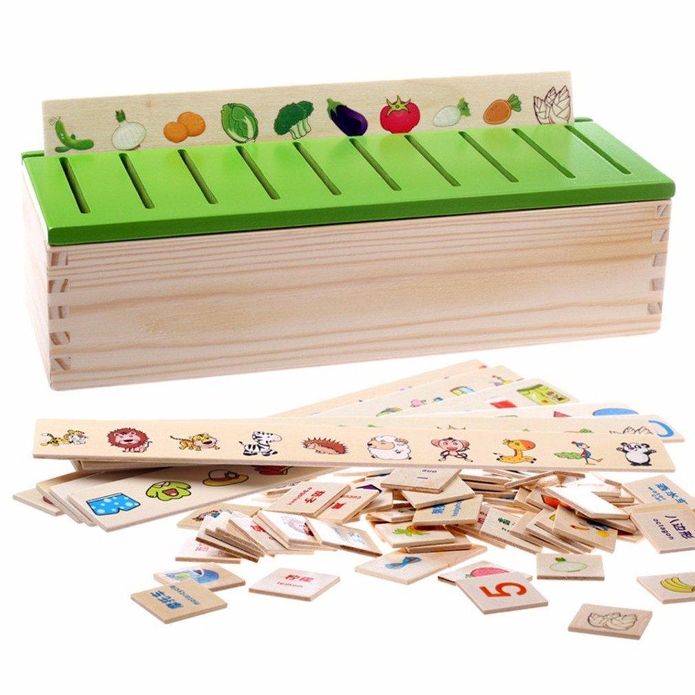 Matemática Conhecimento Classificação Caixa de madeira Cognitive Matching crianças Montessori precoce Educacional presentes brinquedo para criança a aprender