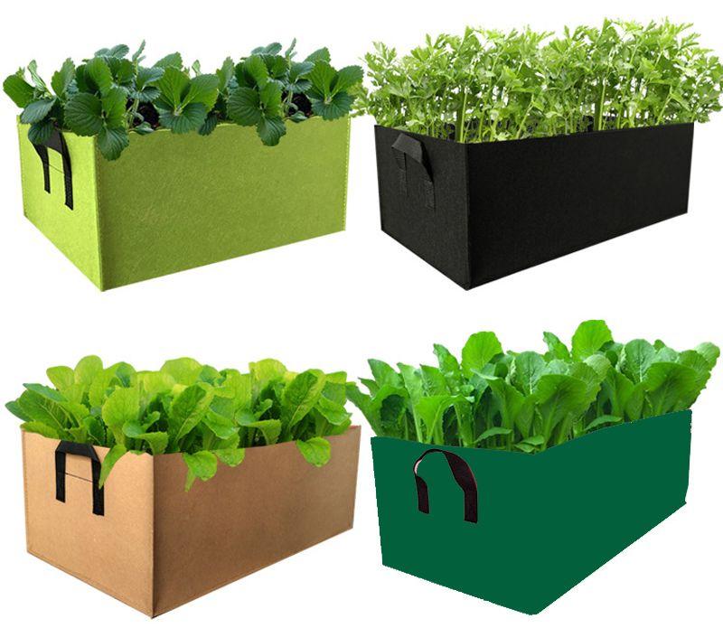 ساحة حديقة الزهور تنمو حقيبة الخضروات زراعة الغراس حقيبة وعاء نسيج ملون رفع حديقة السرير مع مقابض للنباتات زهرة