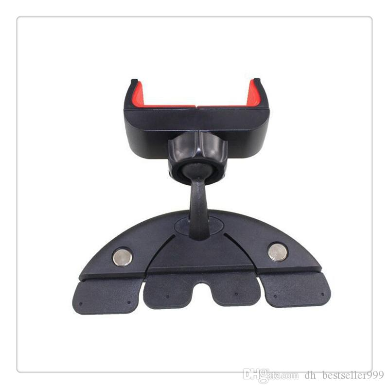Car CD Player Slot Mount Holder Portable Adjustable Universal Flexible 360 degrees Rotation Hot Sale Vehicle Phone Bracket Black High Qualit