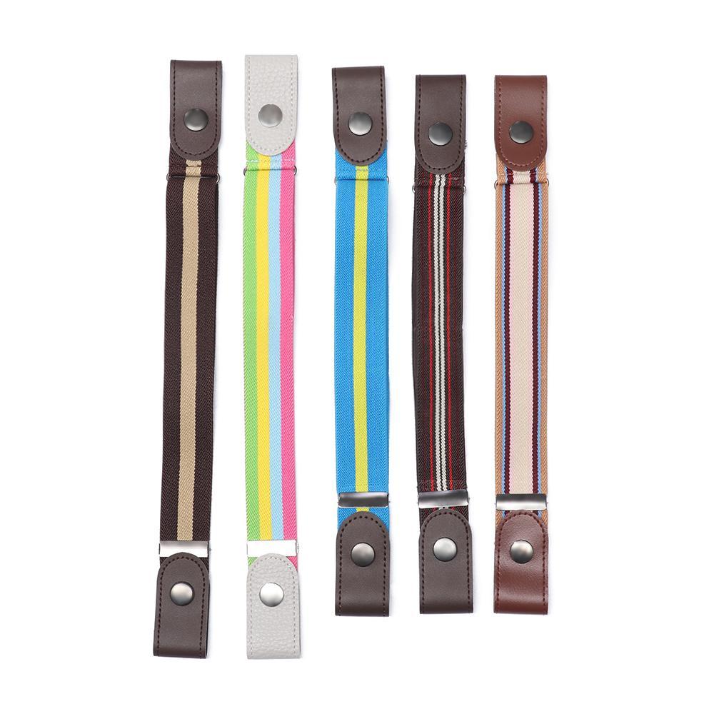 Unisex Elastic Belt Buckle-Free Invisible Adjustable Waist Belt Waistband NEW EF