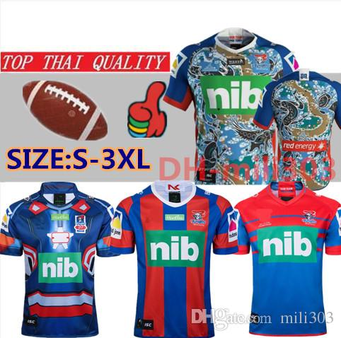2019 Knights Singlet Home Rugby Jerseys 19 20 Thailandia Qualità Rugby League Camicia Jersey Knights Singlet Jersey Shirts Dimensione S-3XL