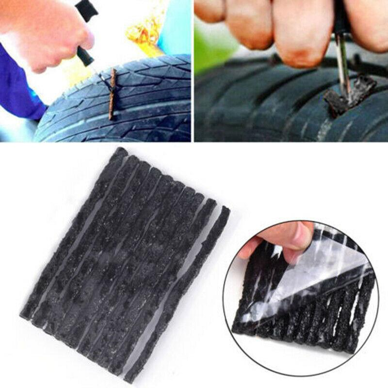 50Pcs Car Bike Tyre Tubeless Seal Strip Plug Tire Puncture Repair Recovery Kit