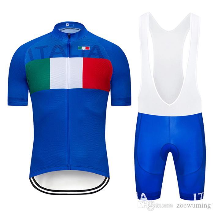 2020 Summer New italia Maillot cyclisme à manches courtes Set Maillot Ropa Ciclismo séchage rapide Uniformes vélo Vêtements VTT Vêtements Cycle