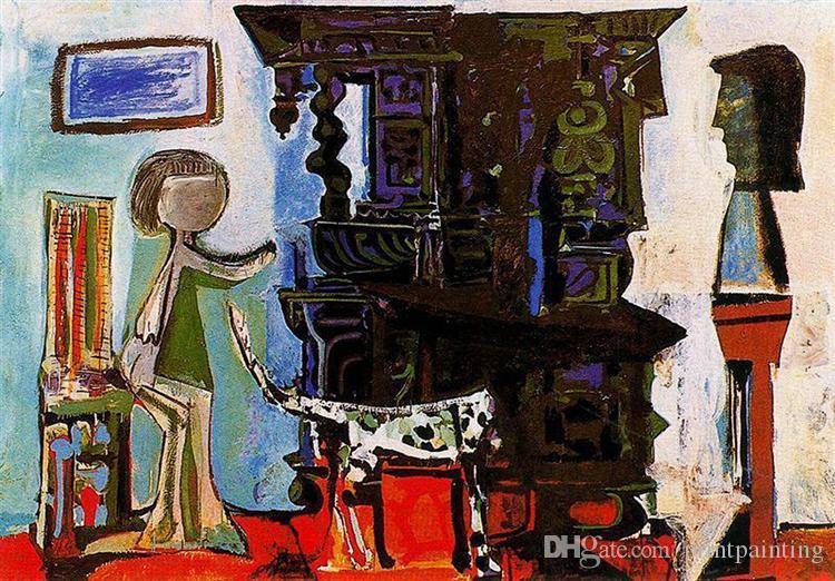 Pablo Picasso óleo clássica Pintura A sala de jantar de Vauvenargues 100% Handmade pelo pintor experiente On White Canvas Picasso827
