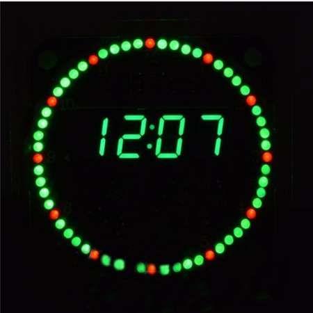 Orologio elettronico Kit fai da te Rotazione LED Orologio elettronico Kit fai da te Rotante Display a led digitale con quattro modalità FR4 Livello militare
