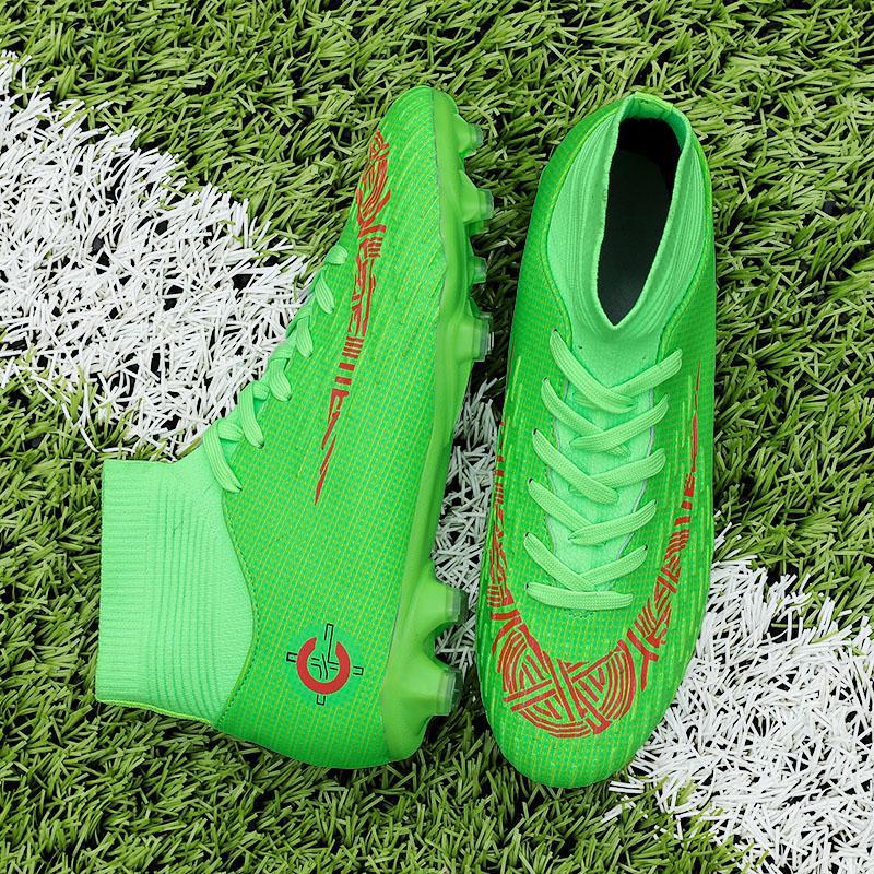 حار بيع أحذية الرجال لكرة القدم المرابط العليا الكاحل لكرة القدم لونغ المسامير أحذية في الهواء الطلق لكرة القدم أحذية الحيوانات الأليفة traing للنساء رجال لكرة القدم للأطفال