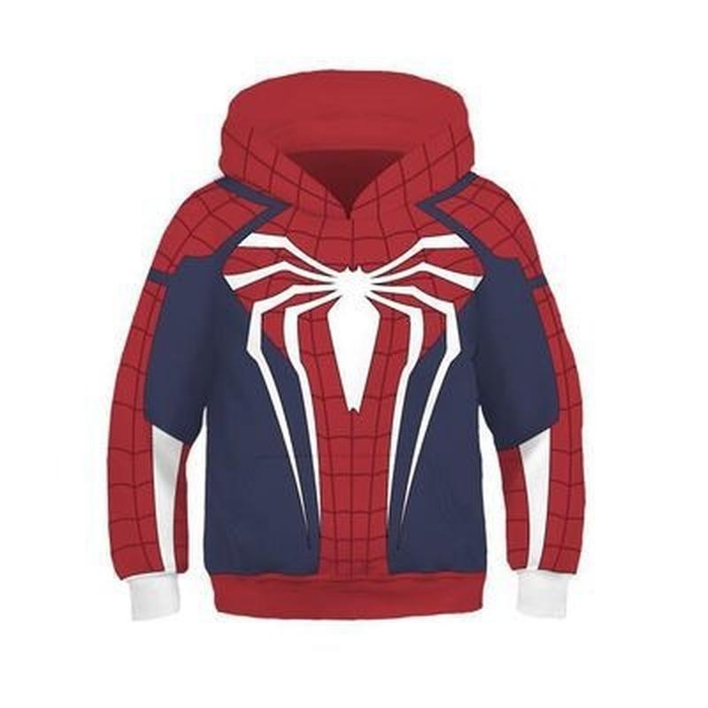 3D Stampato The Avengers Ferro ragazzo / a Spiderman costume con cappuccio supereroe Spider Verse cappuccio Cosplay Felpe parti superiori casuali