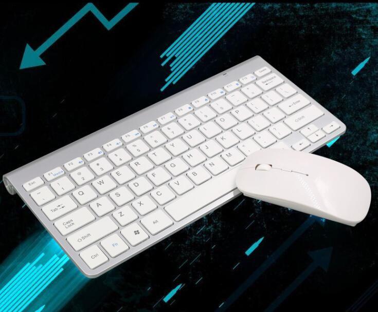 2019 novo teclado sem fio mouse combo 2.4g teclado ultra-fino mouse sem fio para keyboard apple estilo mac win 7/8/10 caixa de tv livre