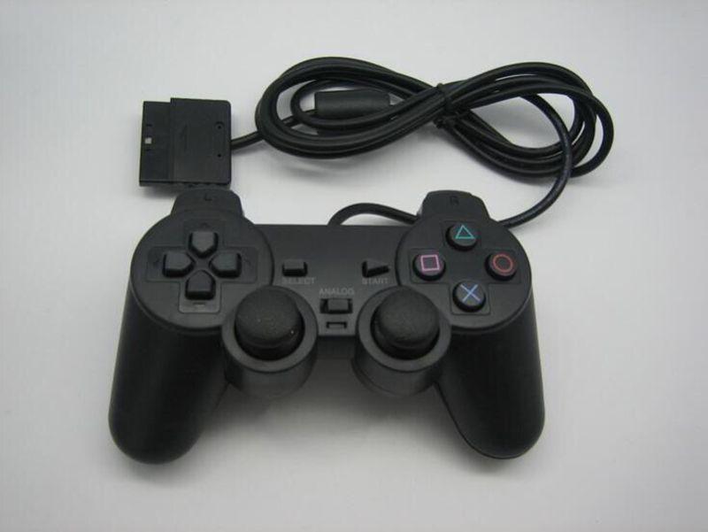 Fabrikpreis Wired Controller für PS2 Doppel Vibration Joystick Gamepad Game-Controller für Playstation 2