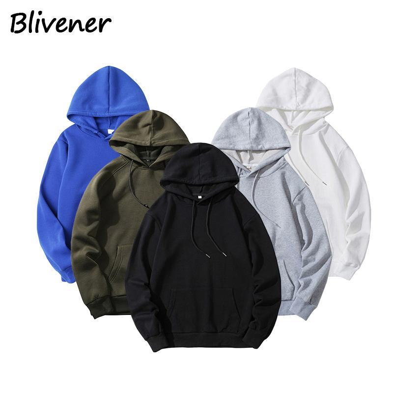 2020 Vêtements pour hommes Hoodies Mode Qualité couleur solide Sweat à capuche unisexe Casual Automne Hiver Pull à capuche Hip Hop Tops Homme