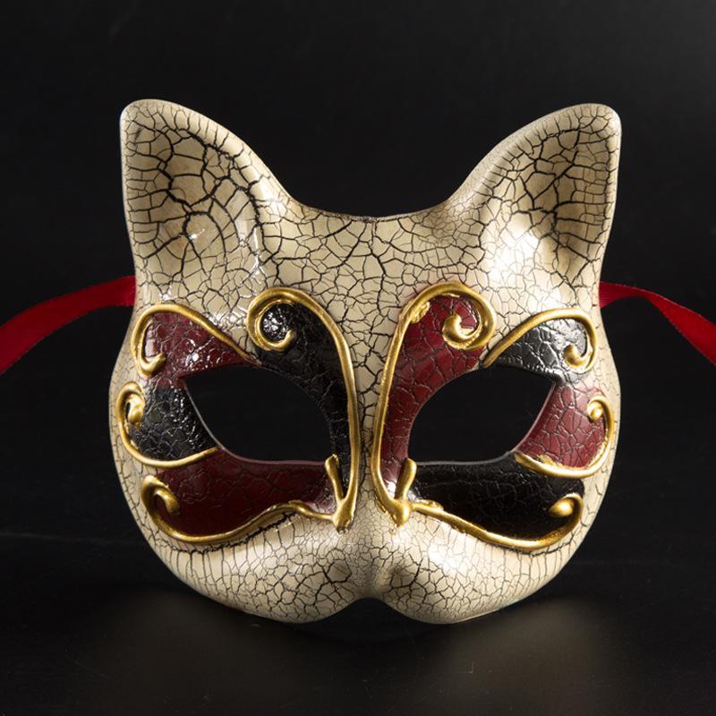 Crack Child Cat Mask Masks Lovely Half Animal Upper Face Gold Personality Party Eyes Mask Flower Masks For Easter Hfvgu