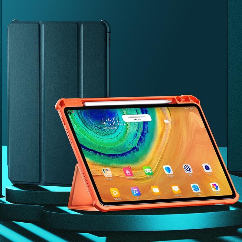 MediaPad M6 10.8 / 8.4 için Kalem Tutucu Huawei MatePad Pro10.8 Tablet Kılıfı Sleeve için XUNDD Anti-darbe Akıllı Uyku Ayaklı Deri Kılıf