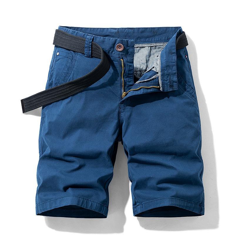 Luulla 2020 nuovi uomini di modo di estate di cotone elasticizzato Cargo Shorts Uomo Casual Stampa polsini Legwear Shorts Big alto Plus Size 38 T200422