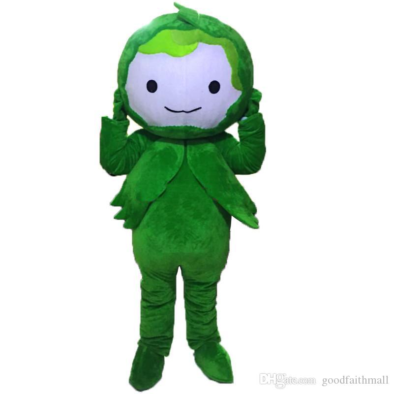 2019 High quality Green Cabbage mascot costumes fancy dress Real photo Free Shipping