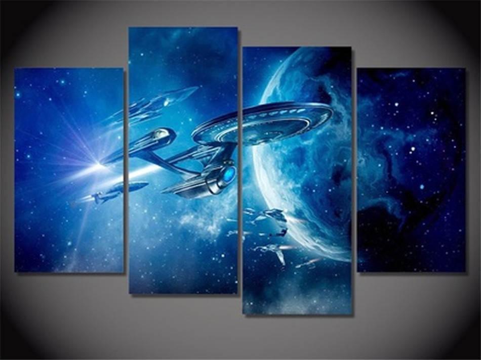 Star Trek Beyond, 4 шт HD Холст печати Home Decor Art Живопись (Unframed / Framed)