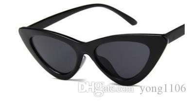 Nueva moda europea y americana tendencia retro personalidad triángulo cat's Eye Sunglasses lady's small frame sunglasses
