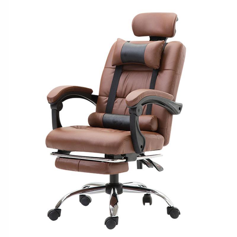Bürostuhl ergonomische Computer Boss Stuhl mit Fußstützen Multifunktionale Mode Haushalts Reclining Liegen Stuhl mit Massage
