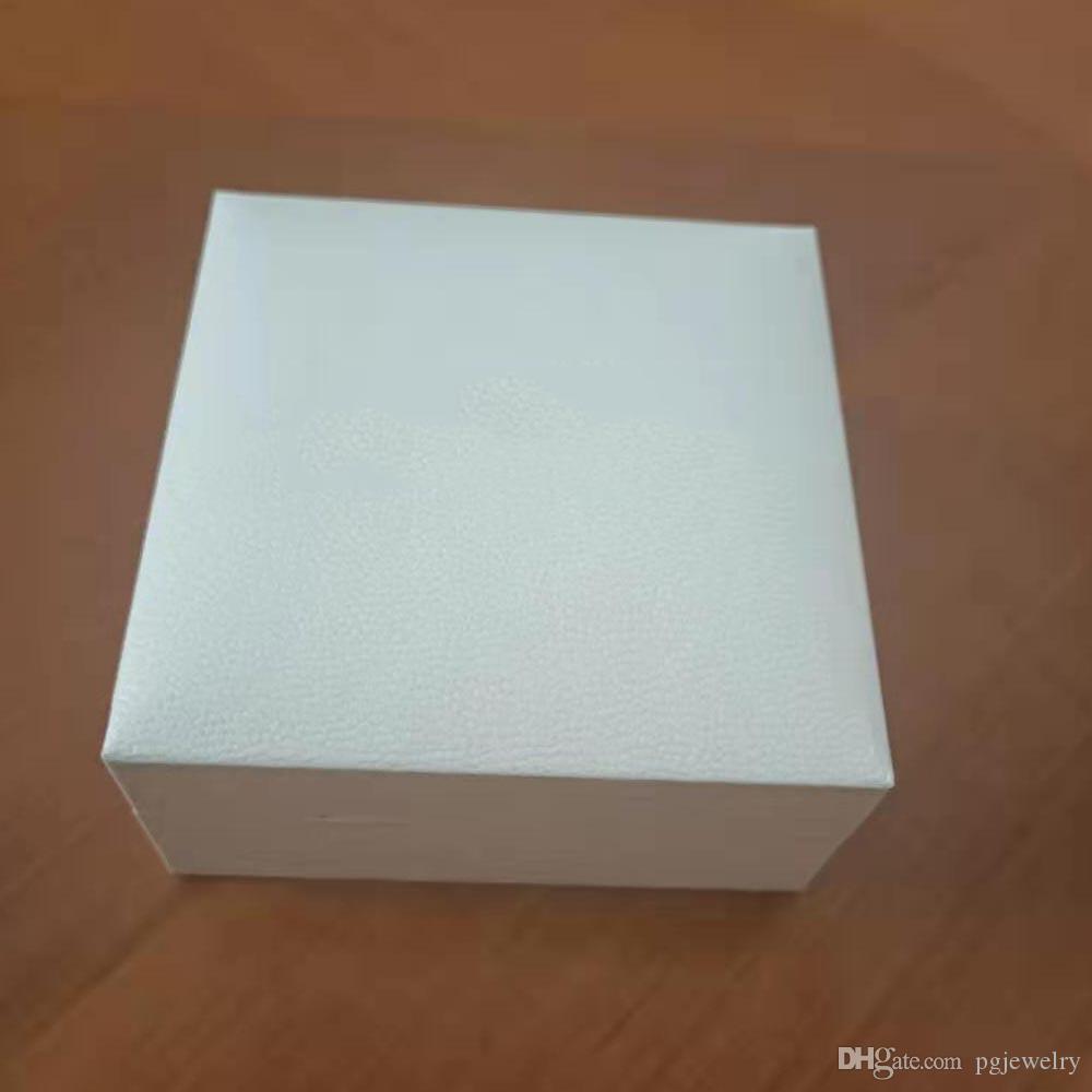 Nova marca branca pulseira anel embalagem apto original europeu charme pulseira fina caixa de presente de jóias