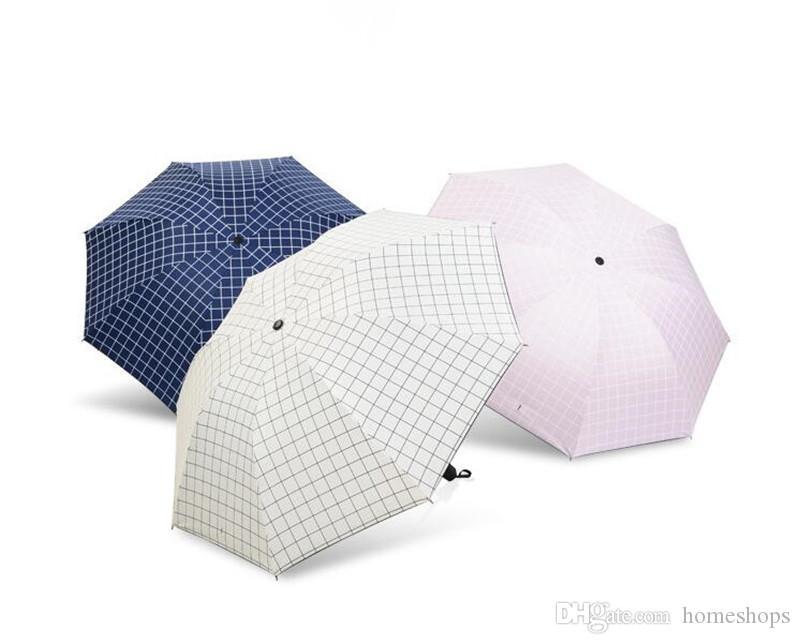 Creativo Simple Paraguas soleado y lluvioso Protección A prueba de viento Plegable Paraguas de viaje compactos al aire libre Mejor precio Envío gratis
