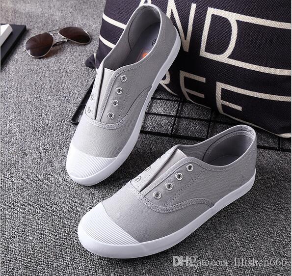 İlkbahar ve Sonbahar Yeni Kanvas Ayakkabılar Yumuşak Düz tabanlı Ayakkabı Nefes Moda Öğrenci Ayakkabı