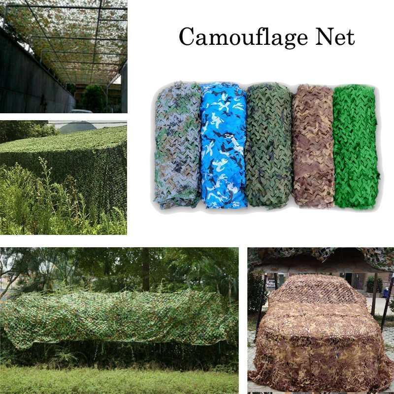 2x3 3 * 3 3x4 3x5 4x5 4x6m 5x6m 150D Oxford camuflagem Net Camping Sun Shelter Outdoor Car-cobre Camo Caça