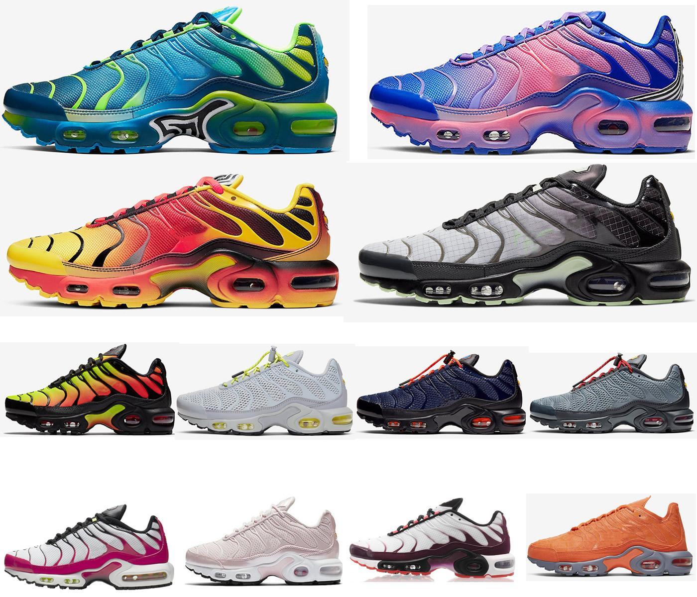 Meilleur Nike air max airmax vapormax TN Chaussures de course plus Hommes Femmes Laine Gris Jeu Royal Tropical Sunset Creamsicle Designer sneakers sport