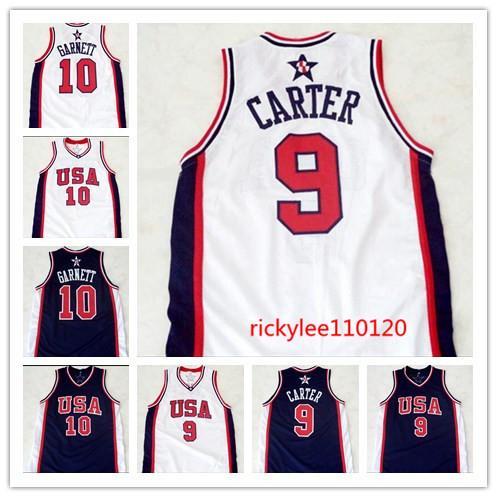 NCAA basketbol forması kolej 10 garnett 9 carter forması nakış özel boyut S-5XL dikişli ızgaradan 2004 ABD basketbol rüya takımı forması