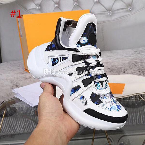Haute qualité New Fashion Paris Show Papa Chaussures Marque Designer Hommes et Femmes Trainer rue Marche Chaussures Casual Taille de la boîte originale 35-45