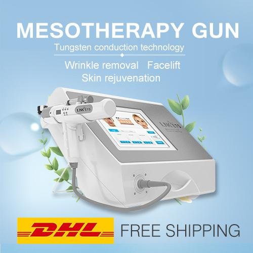 Popular Free Shipping DHL Express Portable Mesotherapy Skin Rejuvenation Wrinkle Removal Needle Meso Injection Gun Mesogun 4 treatment heads