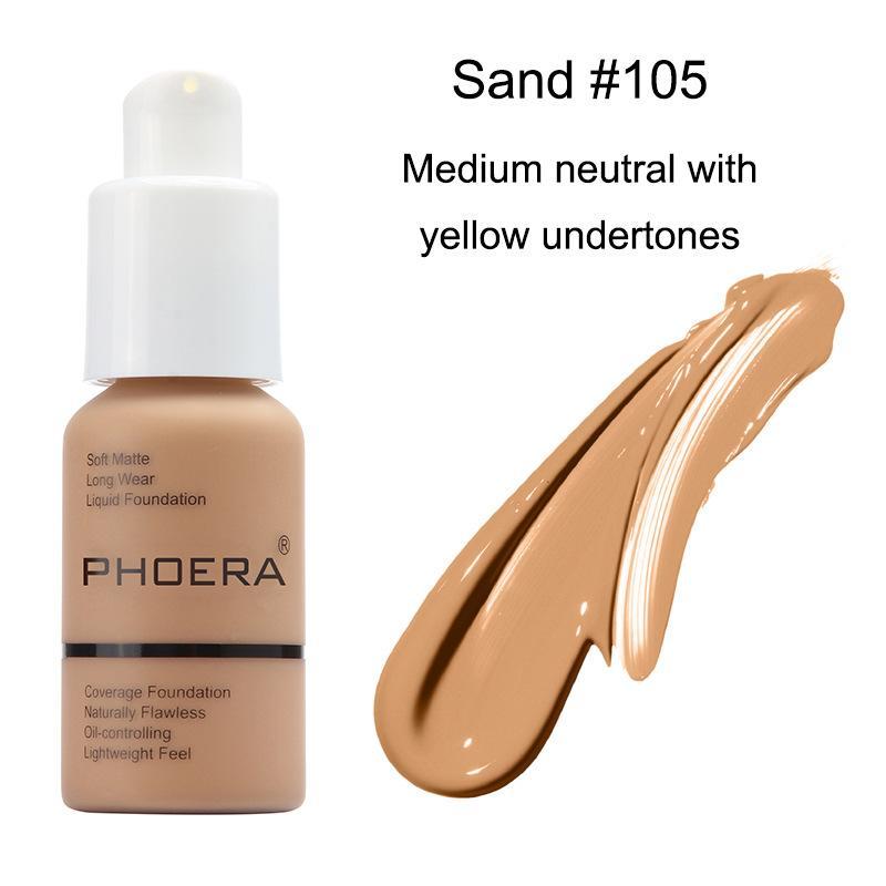 Best Concealer 2020.2020 Face Makeup Primer Phoera Matte Oil Control Liquid Foundation Concealer Soft Matte Long Wear Concealer Foundation Asimov Foundation Best