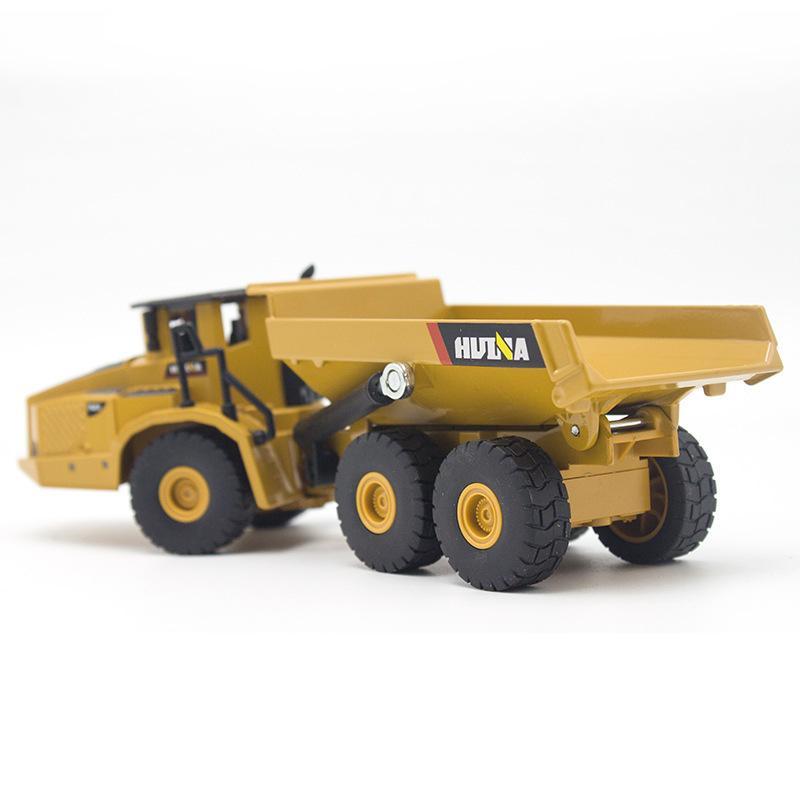 3PCS / set Huina 01.50 Kipper Bagger Radlader Diecast Metal Modell Baufahrzeug Spielzeug für Jungen Geschenk Car Collection Y200109