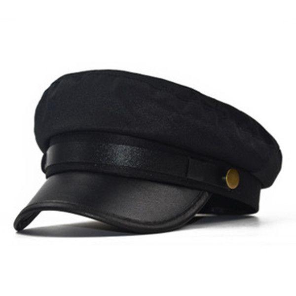 패션 베레모 여성 다재다능한 주름 모자 린넨 여성 가을과 겨울 군사 모자 한국어 버전의 간단한 격자 팔각형 모자
