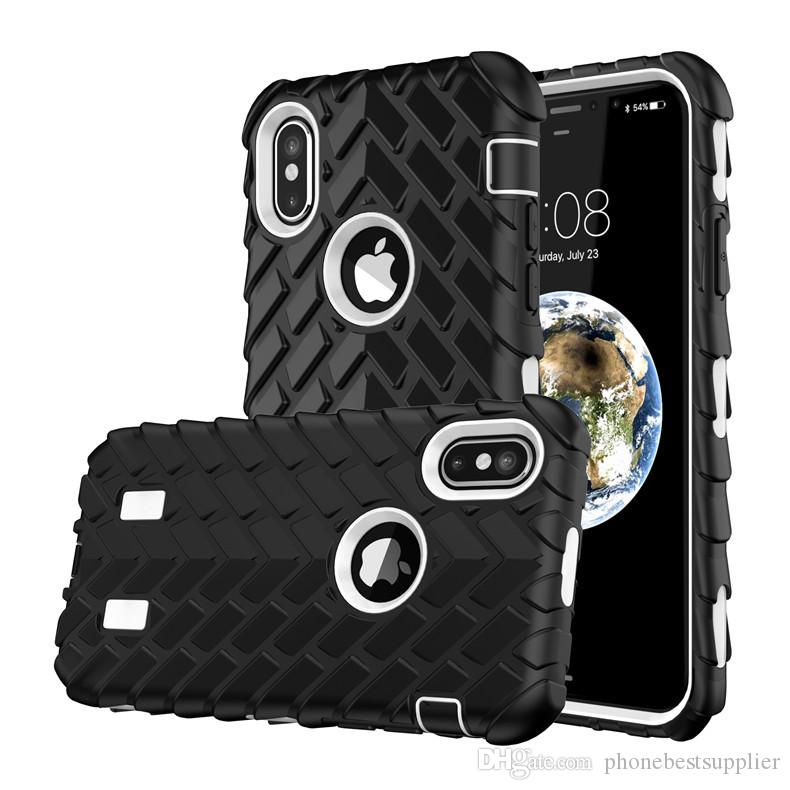 14Type Cool Tire Veins Cell Phone Cases for iPhone X Soft High Quality Silicone Mobile Phone Cases Anti-fall TPU Cell Phone Cases Back Shell