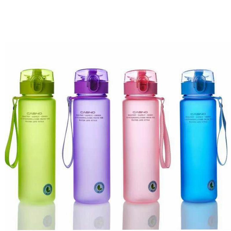 زجاجة مياه بلاستيكية تسرب إثبات أباريق مصممة للرياضة ركوب الدراجات ركوب الدراجات السفر المحمولة زجاجة ماء 400ML 560ml الاختياري