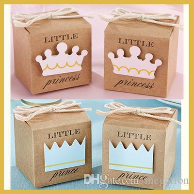 Baby shower favores de caixas do favor Little Prince kraft para aniversário do bebê caixa de presente Parte e caixa de doces Decoração bebê