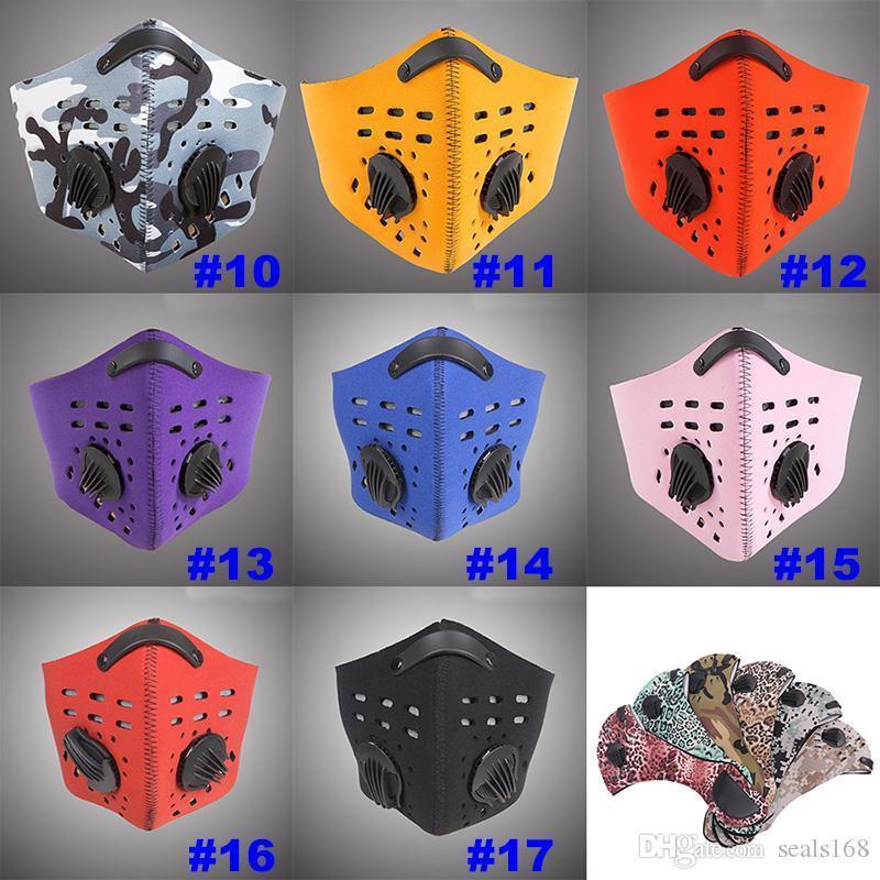 Мужчины дышащая спортивная маска для лица Открытый велосипед пыль загрязнение воздуха защитная половина лица неопреновая Маска PM2.5 Party Masks HH7-1388