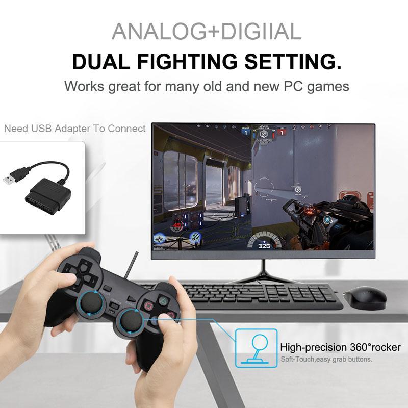 Wired Gamepad für Sony PS2 Controller für Mando PS2 / PS2 Joystick für playstation 2 Vibration Schock Joypad Wired Controle