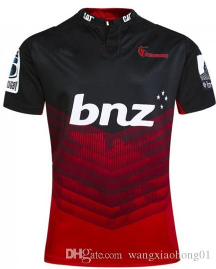 CRUSADERS Super Rugby Home Jersey Super Rugby Jersey League Adults CRUSADERS 2017 HOME RUGBY JERSEY size S-3XL (can print)