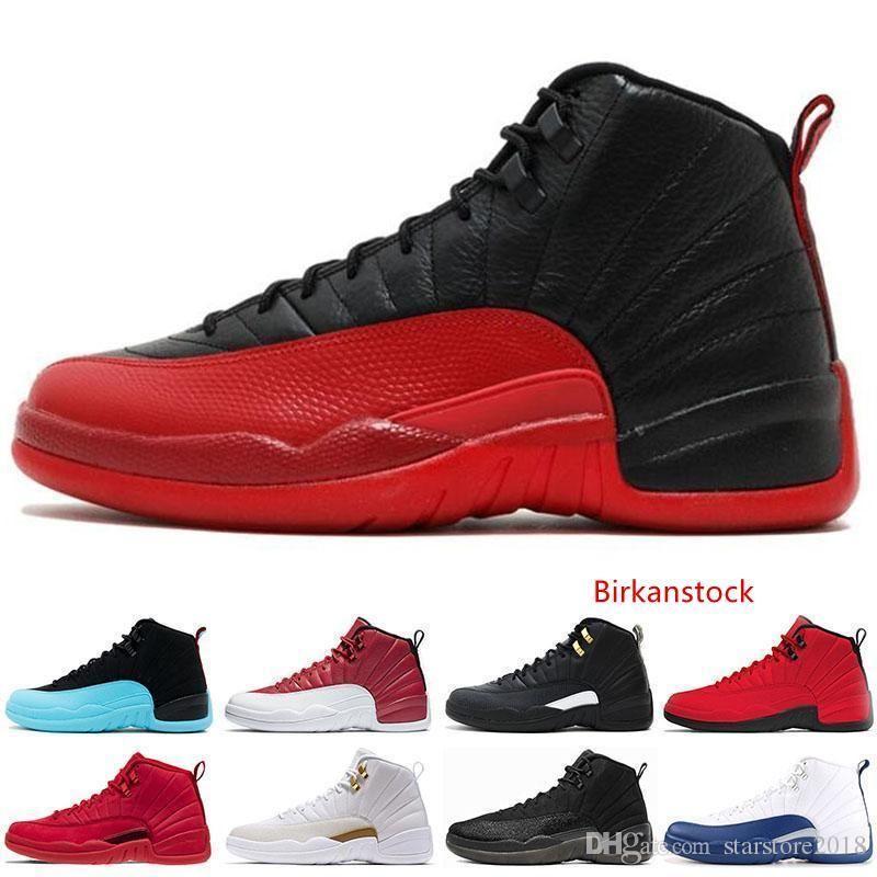 Новый дизайнер 12 12s мужская баскетбольная обувь кроссовки черный белый плей офф мастер тренажерный зал Красный гамма синий 12s мужская спортивная обувь 7-13
