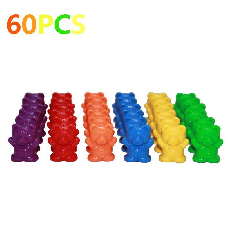 Contando Bears Con Piramide impilabile Montessori Arcobaleno corrispondenza giocattolo gioco educativo colori Ordinamento giocattoli per i più piccoli bambino