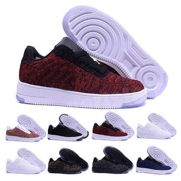 Nike air force 1 one flyknit 2020 nuevo estilo de línea de la mosca amante mujeres de los hombres de alta bajo los zapatos del patín 1 Un punto de tamaño de malla 36-45 Eur CS5320