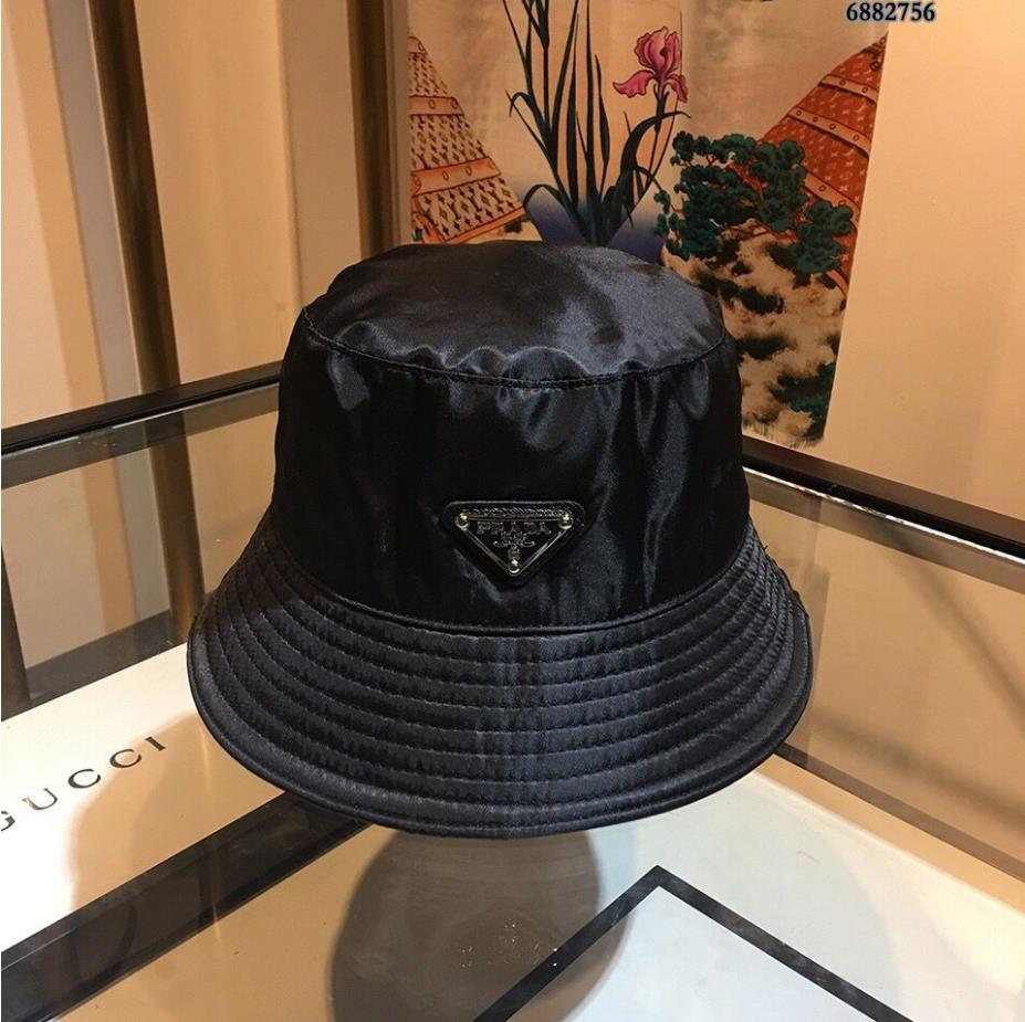 New High quality black color letters Bucket Hat for unisex Fashion Fold able Caps Black Fisherman Beach Sun Visor Folding Cap A58
