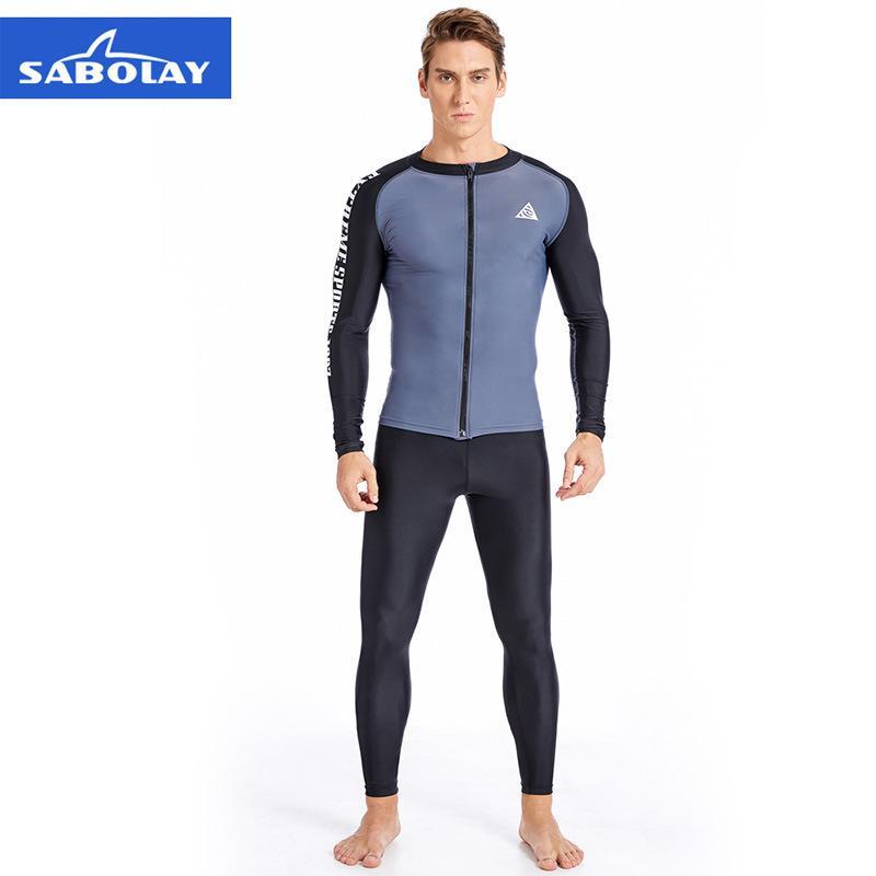 mens designer de sabolay esportes ao ar livre apertado mergulho dividido swimsuit terno 328