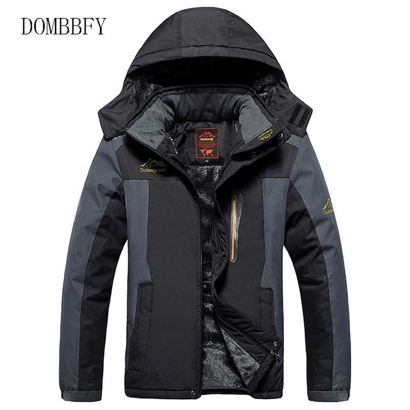 Winter Fleece Hiking Jackets Men Windproof Waterproof Outwear Parka Mens Windbreaker Army Raincoat Coat Overcoat 9XL